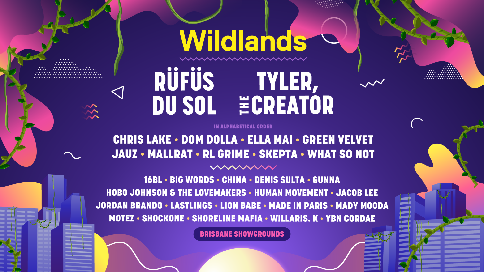 Wildlands Festival Full Line Up Fucking Cool Festivals