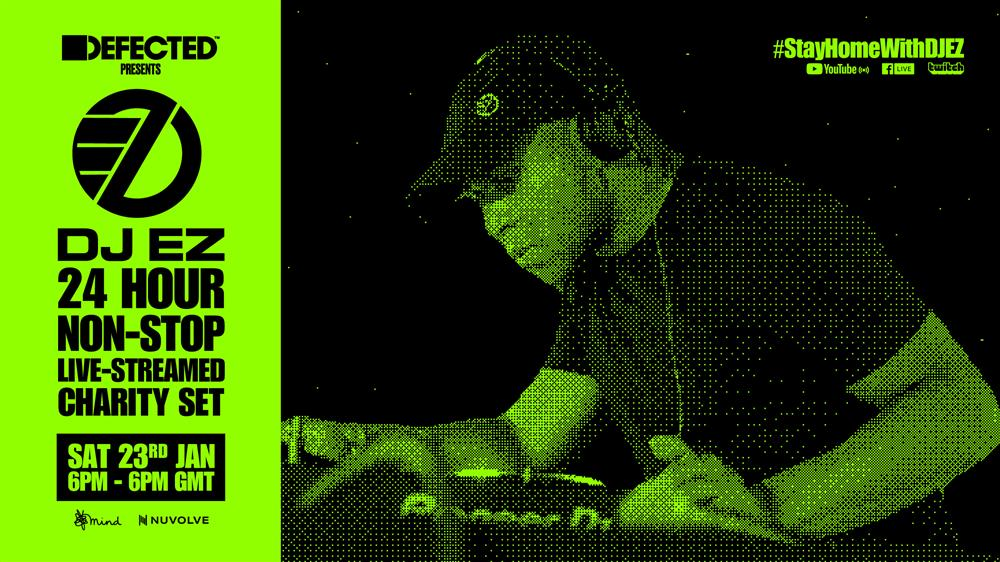 DJ EZ Joins Forces with Defected Records for Yet Another 24-hour Charity Set